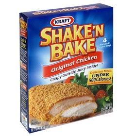 Aan Jeanne`s Keukentafel:   Dit is een heel makkelijke coating voor kip,karbonaadjes en schnitzels Dirk had dit meegenomen uit Amerika En het was zo makkelijk...... Geen gedoe met eerst in het ene bakkie bloem en dan door de ei en dan in ander bakkie met de paneermeel Het is gelijk een rotzooi op het aanrecht met al die bakjes Dit is simpel.... Gooi wat in een zak.....kip of ander vlees erbij...schudden...en het kan zo de oven in Er hoefde zelfs geen boter in de pan Terwijl het vlees in de…
