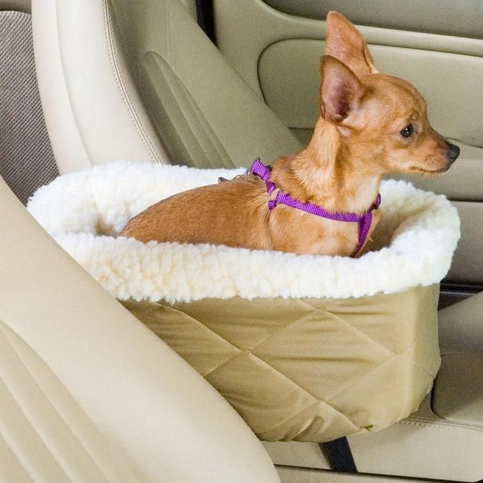 Dog Car Seat Lookout -- Give your small pet a safe, comfortable perch, right next to the driver's seat. Unlike traditional pet booster seats, this console lookout allows a passenger to sit up front, and lets your pet enjoy a safe, comfortable seat within hand's reach of both driver and passenger.