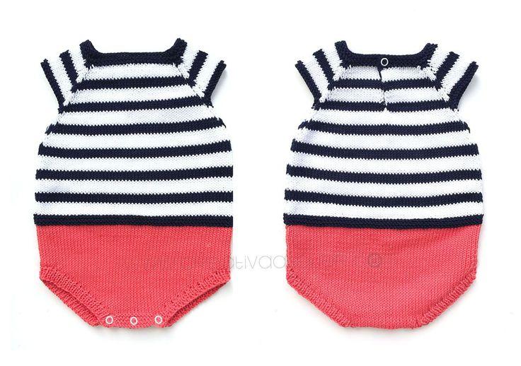 Ranita de punto Marinera – Navy Baby