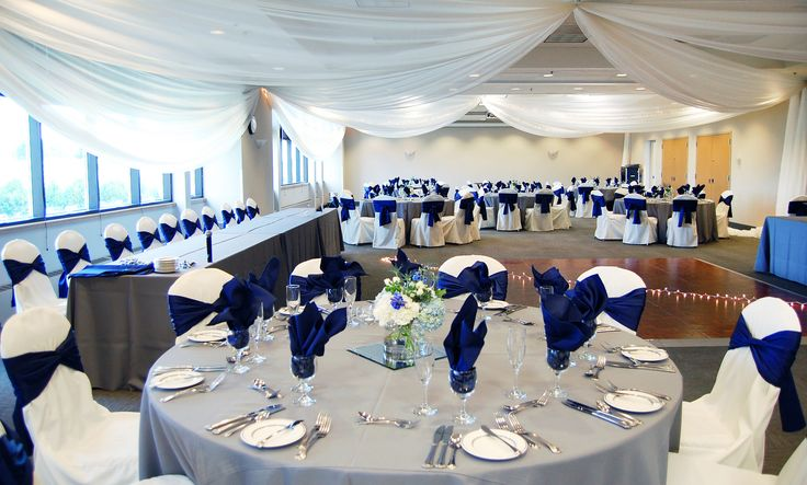 Royal Blue Amp Gray Decor At A Wedding Reception In The