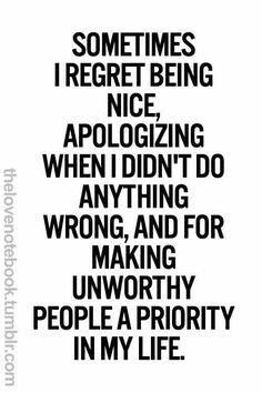 Not anymore! But this a good reminder for me to keep my priorities with people in the right order!!