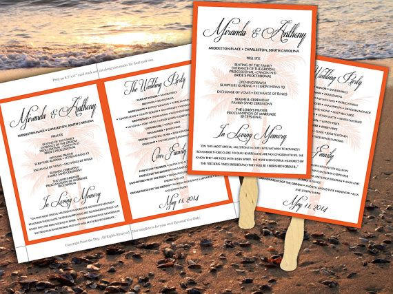 15 Must-see Wedding Ceremony Program Template Pins