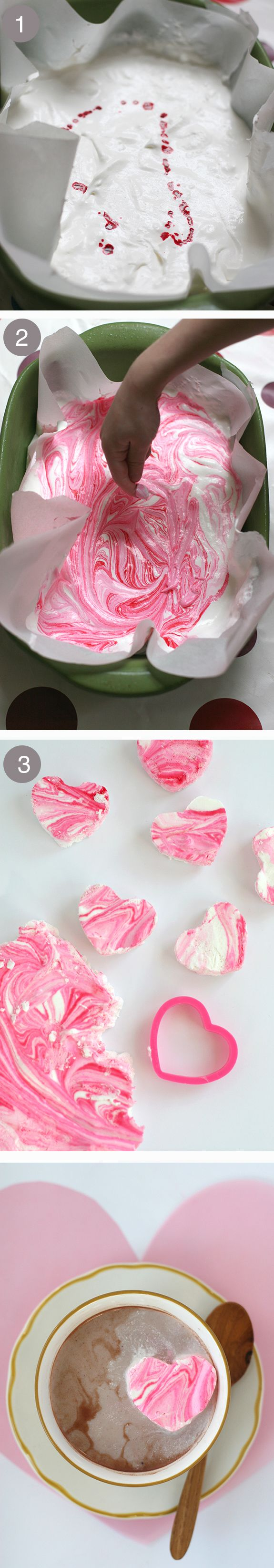 #DIY peppermint marshmallows in the sweetest of shapes