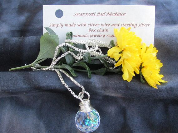 Swarovski ball necklace