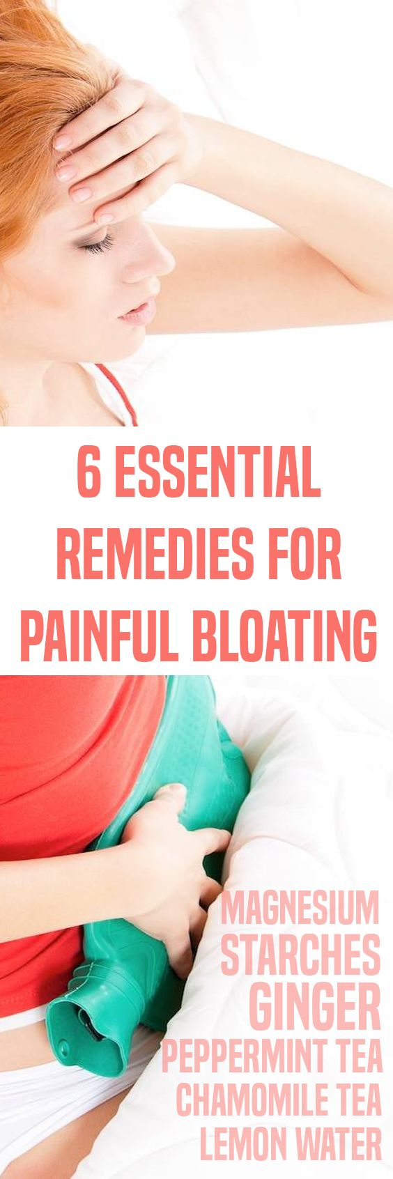 6 Essential Remedies For Painful Bloating