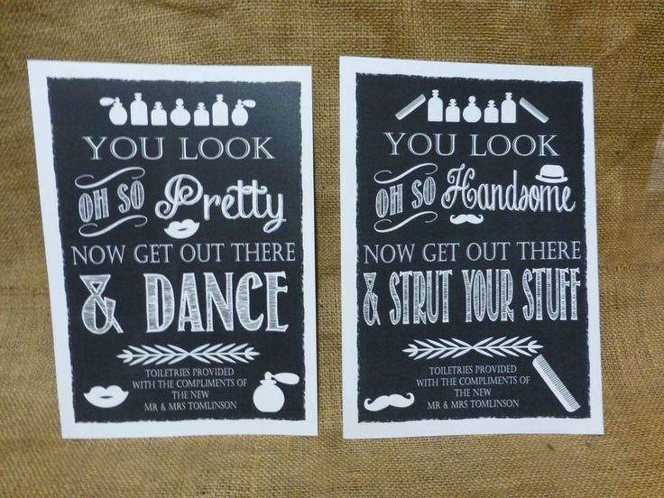 A4 VINTAGE chalkboard style TOILETRY SIGNS guests WEDDING comfort basket in Home, Furniture & DIY, Wedding Supplies, Wedding Favours | eBay
