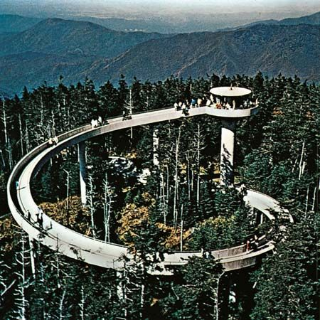 The Tower Atop The Sloping Ramp At Clingmans Dome Affords