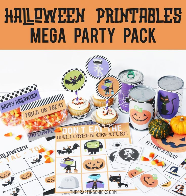 Halloween Printable Mega Party Pack - Looking for the answer to keeping the kids busy during your Halloween Party? It's all here in our Halloween Printables Mega Party Pack.