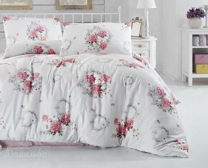 Купить постельное белье RANFORCE ZAIRA красное 50х70 евро от производителя Altinbasak (Турция)