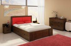 Łóżko bukowe Visby Kronoberg High Drawers (z szufladami)
