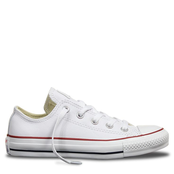 Chuck Taylor All Star Leather Low White | Free Shipping * | Buy authentic sneakers and gear direct from Converse