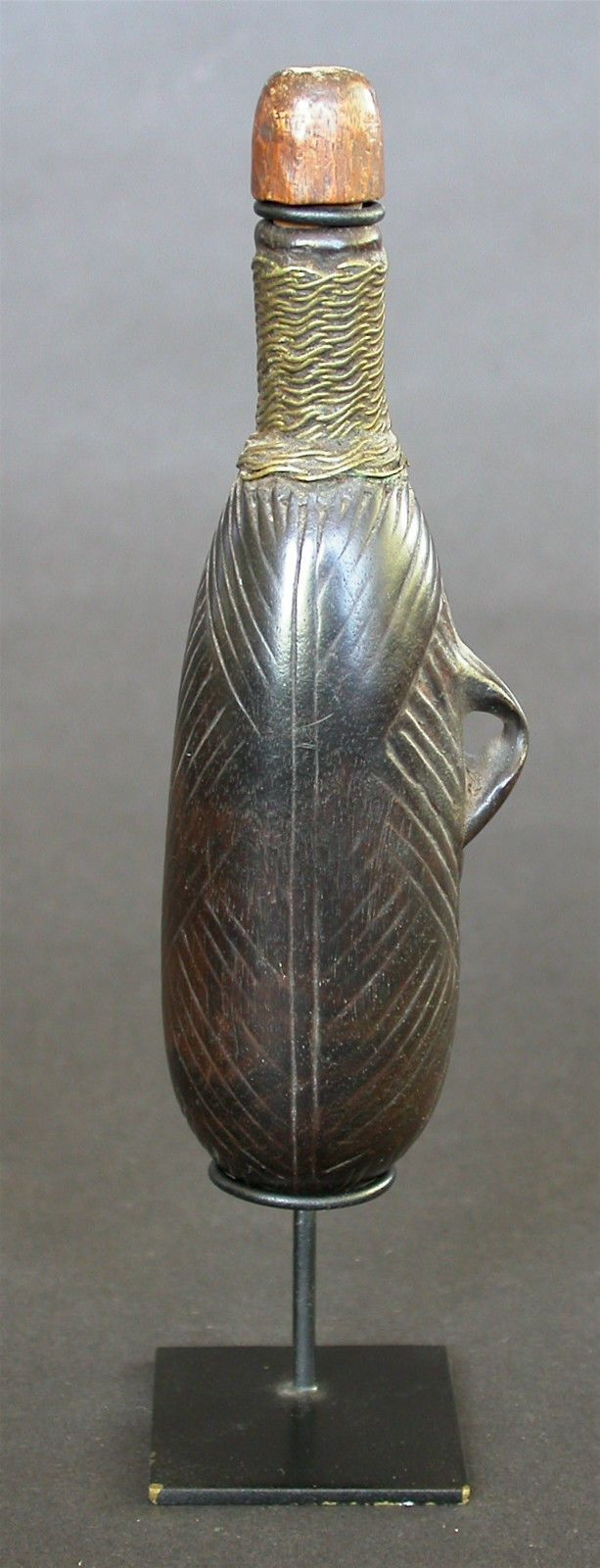 A Fine Antique 19th C Shona Tsonga Snuff Bottle Mozambique Africa with Stopper | eBay