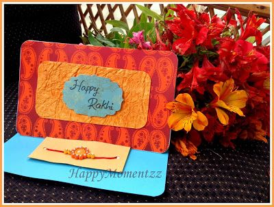 handmade rakhi cards HappyMomentzz crafting by Sharada Dilip: Rakhi Cards with Quilled Rakhi