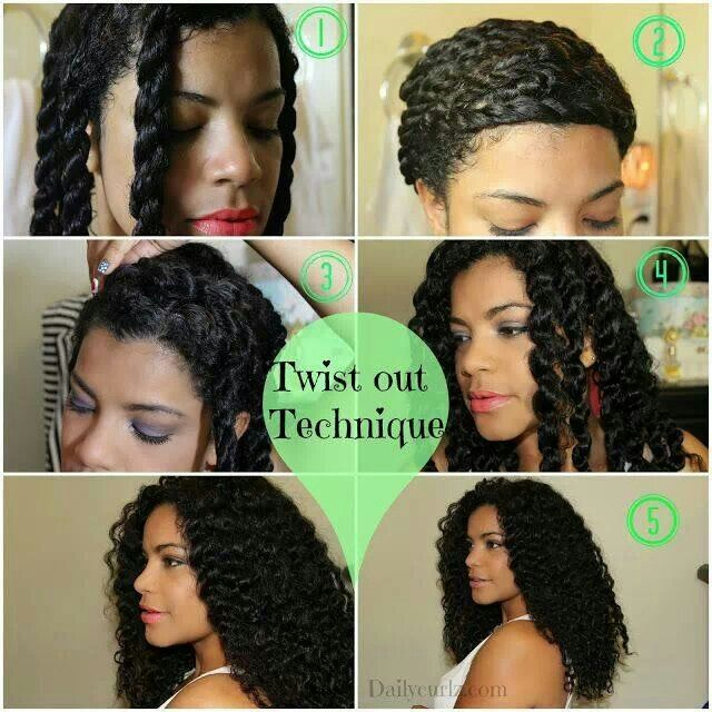 Natural hair....stretching a twist out