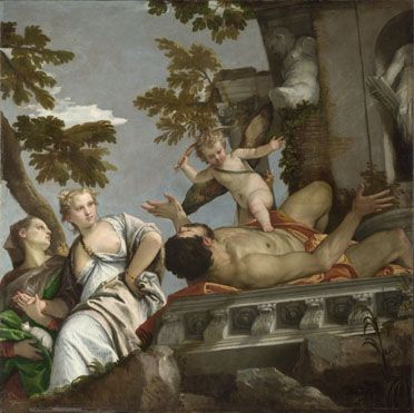 Scorn about 1575, Paolo Veronese This painting is part of the group: Four Allegories of Love