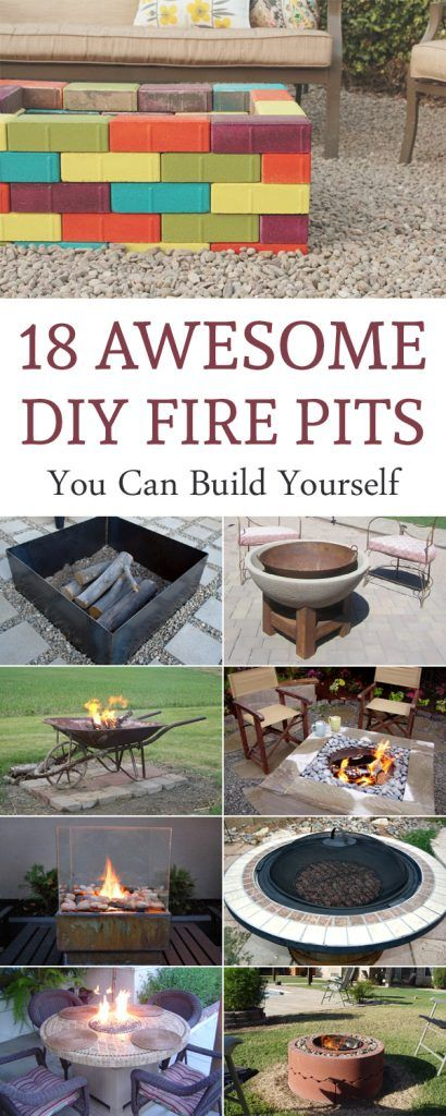 18 Awesome DIY Fire Pits You Can Build Yourself