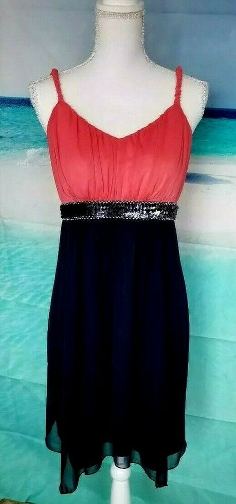 7411f2ab8c99 Formal Dress SWEET STORM Sequence Chiffon Black Coral Womens Plus Size 14W  #SweetStorm ...