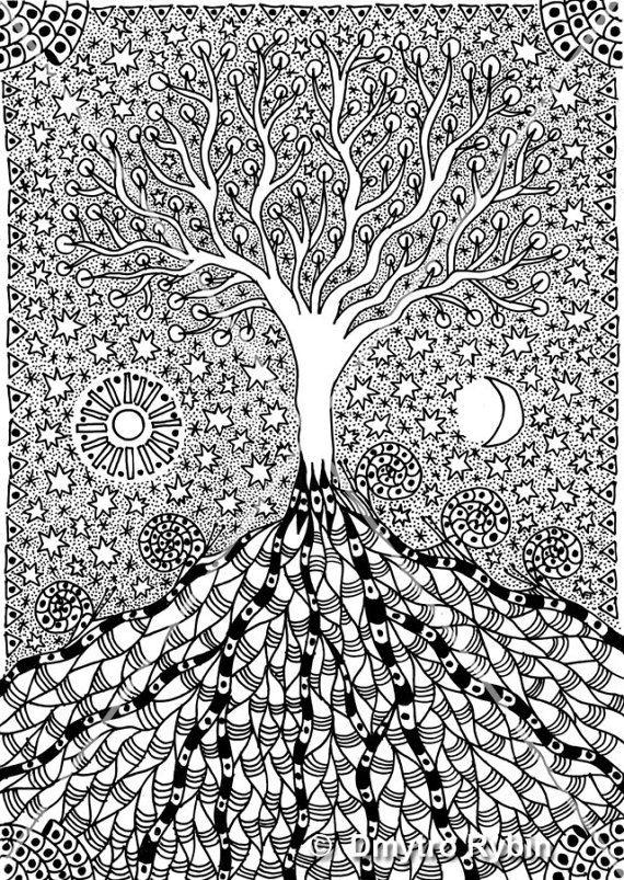 окружении картинки гелевой ручкой деревья выбираем нужный