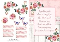 Beautiful Birthday Poem With Roses  on Craftsuprint - View Now!