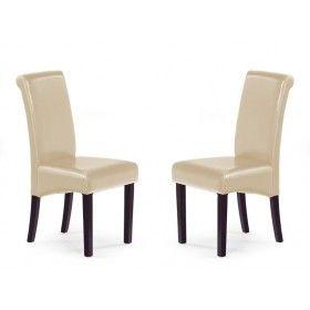 Krzesło Nero Halmar beż zestaw 2 sztuk