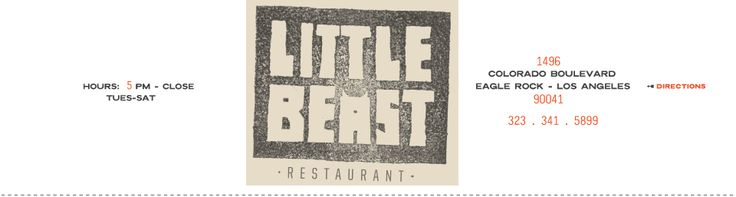 Little Beast Restaurant - Eagle Rock