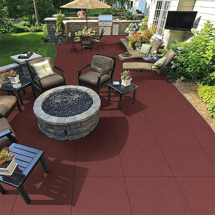 Rubber Patio Pavers Also Deck