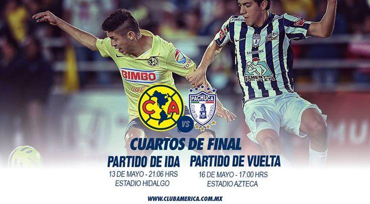 Ver América vs Pachuca partido del 13 de Mayo del 2015 en los cuartos de Final de la Liguilla.