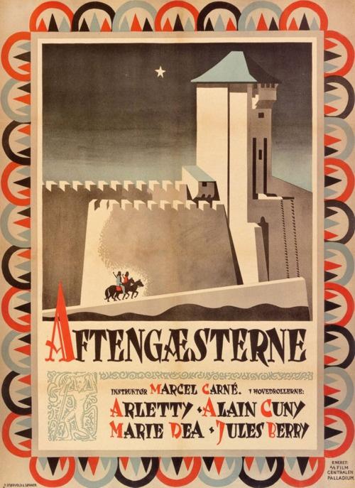 Swedish poster for LES VISITEURS DU SOIR (Marcel Carné, France, 1942)    Designers: P. Størvold & Sønner (?)