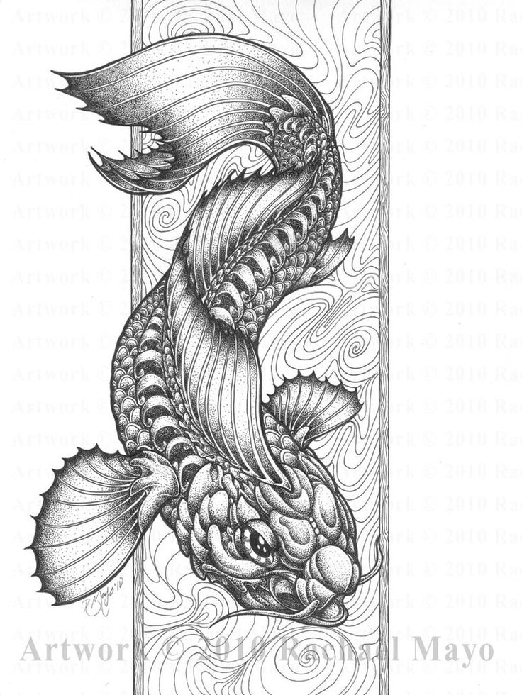 dragon fish coloring pages - photo#5