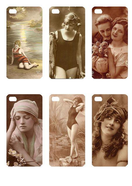 femmeanciennes   Flickr: partage de photos! Skins ou habillage for pour iPhone 4 4S  à imprimer et à glisser dans une coque transparente pour iphone 4 et 4 S  print it et put it in your transparent shell for iphone 4 or 4S