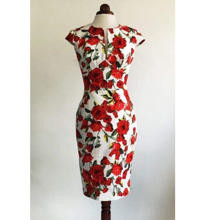 #cotton #dress #Floral #midi #MidLength #red