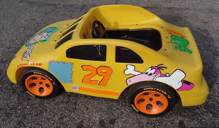 Power Wheels Electric Stock Car 1992 Cartoon Network Wacky Racing - Not Working  #FisherPricePowerWheels