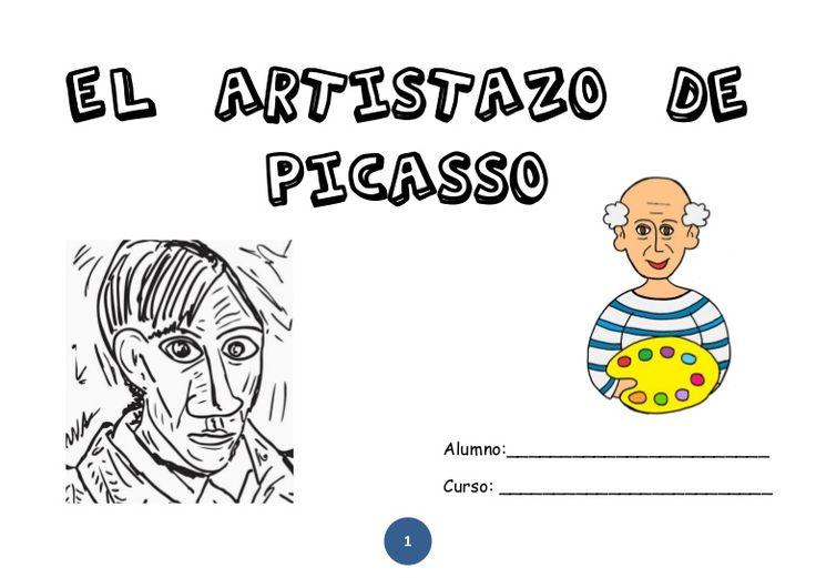 Cuaderno para el alumnado de 1º de Primaria para trabajar a Picasso.