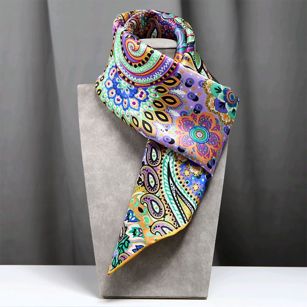The Bohemia Silk Scarves Bright Blue « We make every scarf A sense of Art – china silk scarves shop,vintage silk scarves sale,hand-printed silk scarf online shopping