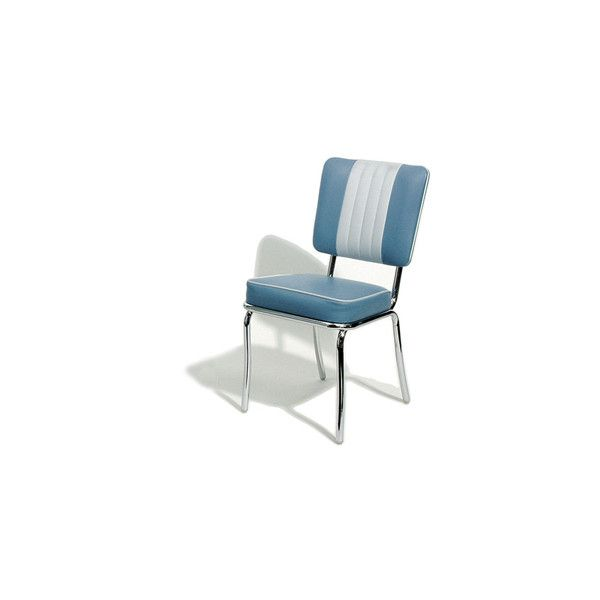 Retro Blue Shelby Diner Chair Blue | Retro Diner Furniture Grease Diner Chair Retro Chair 50s Chair 50s Seat Retro Seat 50s Style Furniture Padded Chair Retro Padded Chair Grease Style American Diner Chair Retro American Seat American 50s Diner Cha found on Polyvore