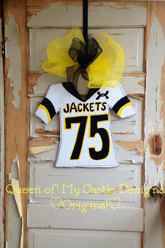 Football jersey door hanger by queensofcastles on Etsy & 7 best Football images on Pinterest | Football jerseys Hand ... pezcame.com