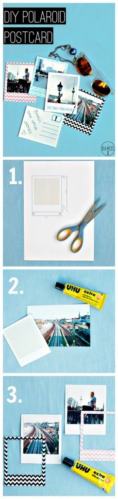 Here's a cute DIY for Polaroid Postcards. With tutorial and FREE printables. Click through for the full article!
