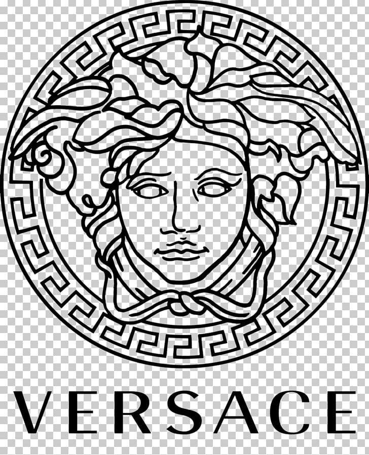 Versace Men Italian Fashion Prada Logo Png Area Art Black And White Brand Circle Versace Logo Versace Brand Fashion Logo
