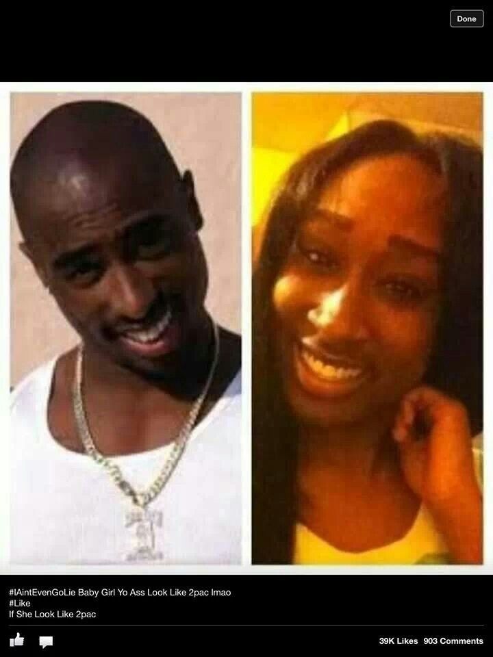 Dang she look like Pac! Check out that nose!