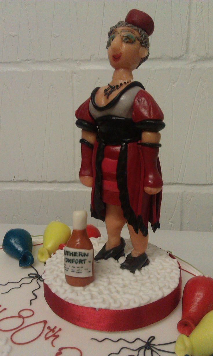 80 Year Old Birthday Girl Sugarpaste Model