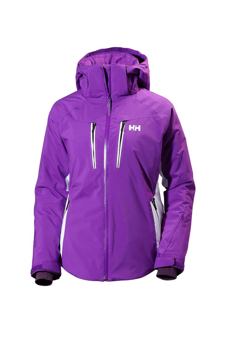 High altitude and high speed in a pure performance 2017 Helly Hansen Women's Motion Stretch Insulated Ski Jacket for every aspiring skier.