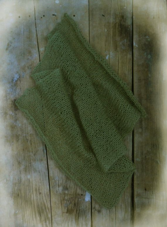 Olive Mohair Newborn Wrap Baby Boy Photo Prop by GabriCollection