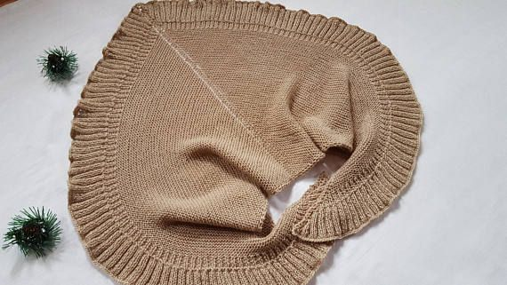 Knitted shawl Shawl as a gift Brown  shawl Gift for mom Gift