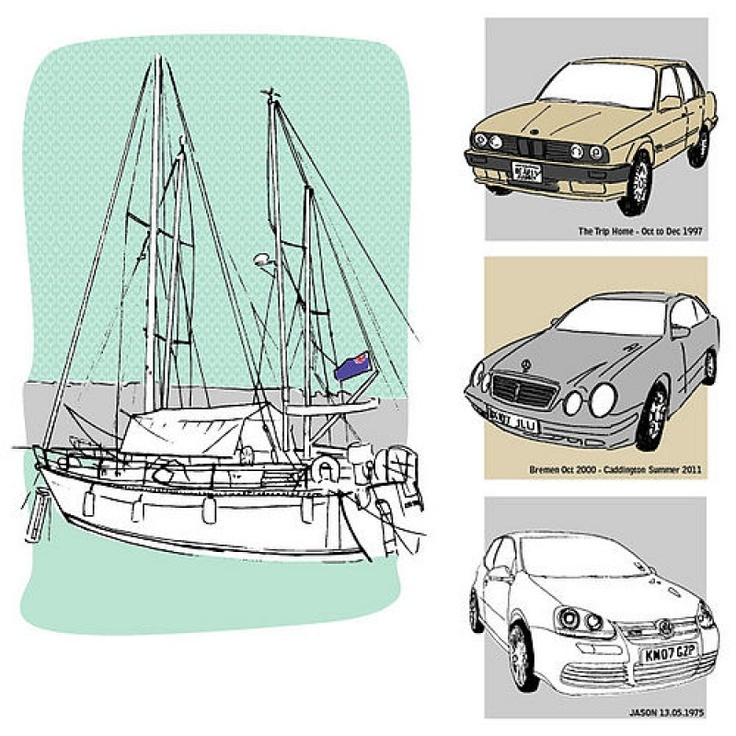 Bespoke Car Illustration hand drawn from a photo