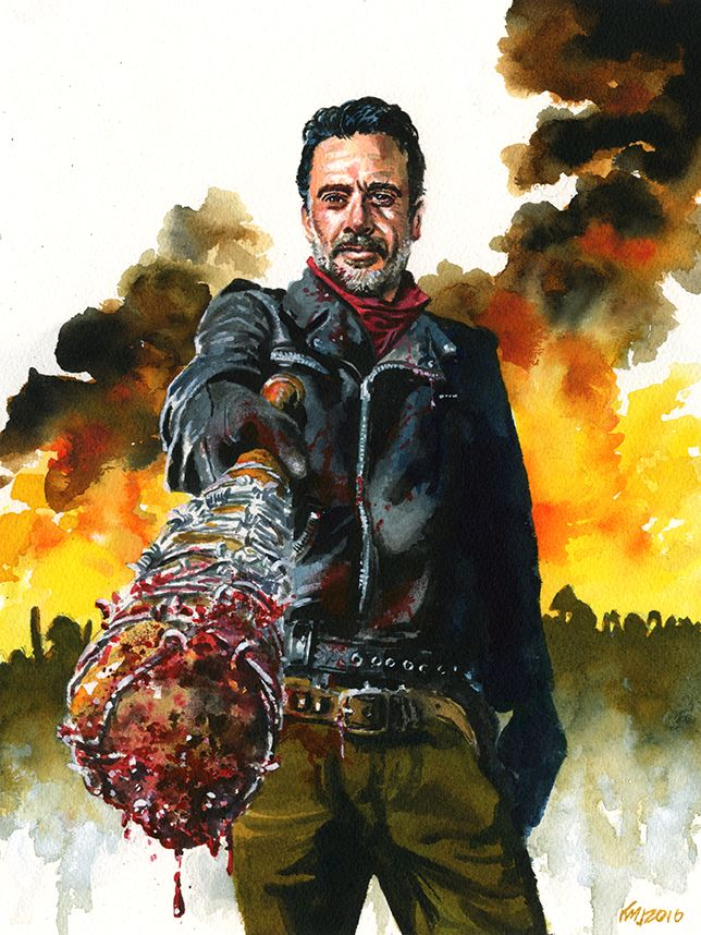 "pixelated-nightmares: ""Negan by kenmeyerjr """