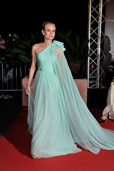 Diane Kruger Cannes Film Festival Lookbook: Diane stunned us into oblivion when she arrived at the Moonrise Kingdom premiere wearing an ethereal Giambattista Valli Couture seafoam green gown.