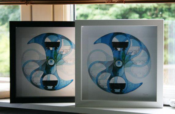 Original 'Falkirk Wheel' art print by oommoodesign on Etsy, £25.00