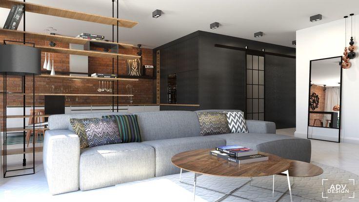 Salon styl Industrialny - zdjęcie od ADV Design - Salon - Styl Industrialny - ADV Design