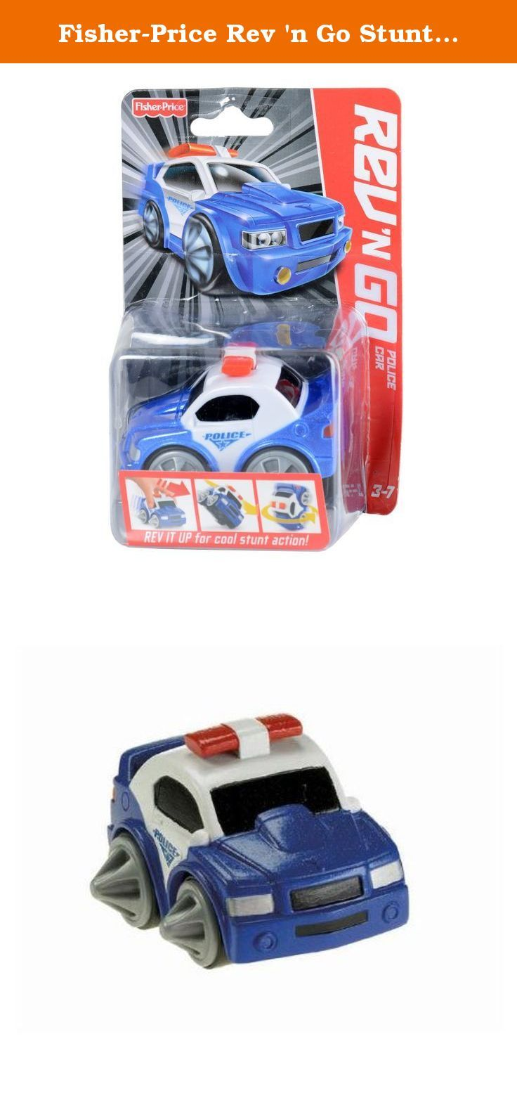 Fisher-Price Rev 'n Go Stunt Vehicle: Police Car. Rev the motor for cool stunts. Compete to see who can do the coolest tricks. Engineered with unique flywheel technology. Designed to spin, flip, speed, turn and more. Collect all the Rev 'n Go Stunt Vehicles.