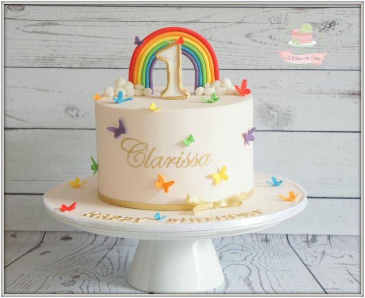 Rainbow butterfly by Jo Finlayson (Jo Takes the Cake)